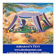 "Abrahams Tent Logo Square Car Magnet 3"" x 3"""
