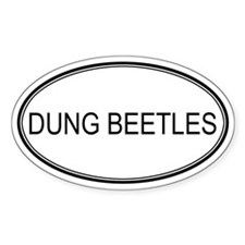 Oval Design: DUNG BEETLES Oval Decal