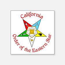 "California Eastern Star Square Sticker 3"" x 3"""