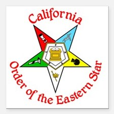 "California Eastern Star Square Car Magnet 3"" x 3"""