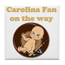 Carolina Fan on the way Tile Coaster