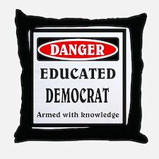 Educated Democrat Throw Pillow