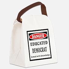 Educated Democrat Canvas Lunch Bag