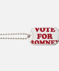 Vote For Romney Dog Tags