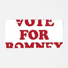 Vote For Romney Aluminum License Plate