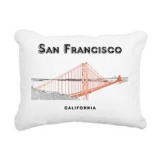SF_12x12_GoldenGateBridg Rectangular Canvas Pillow