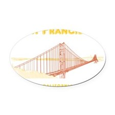 SF_12x12_GoldenGateBridge_Design3_ Oval Car Magnet