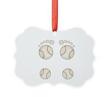 Baseball Feet Ornament