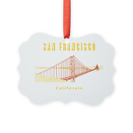 SF_10x10_GoldenGateBridge_Design3 Picture Ornament
