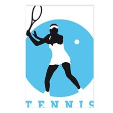 female tennis player Postcards (Package of 8)