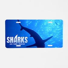 SOS Shark Calender Aluminum License Plate