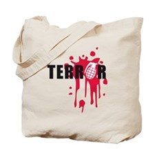 terror bomb blood splatter granate Tote Bag