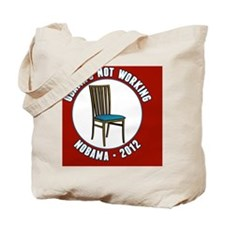 Empty Chair Red Tote Bag
