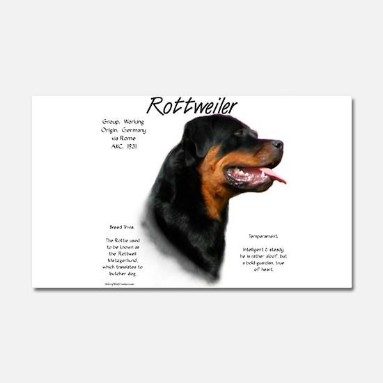 Rottweiler Car Magnet 20 x 12