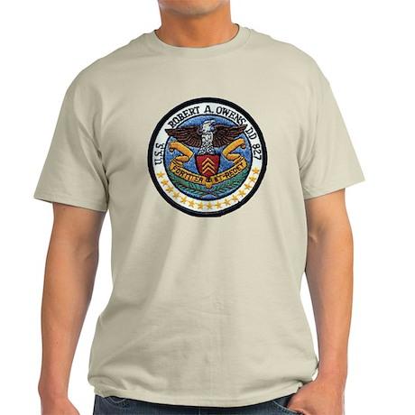 uss robert a. owens dd patch transpa Light T-Shirt