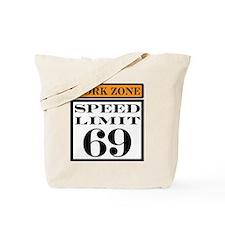 work zone speed limit Tote Bag