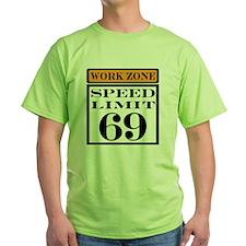 work zone speed limit T-Shirt