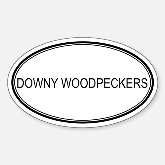 Oval Design: DOWNY WOODPECKER Oval Decal