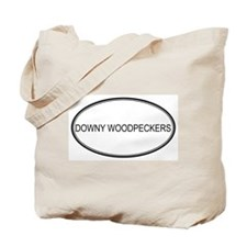 Oval Design: DOWNY WOODPECKER Tote Bag