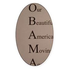 Barack Obama - Our Beautiful Americ Decal