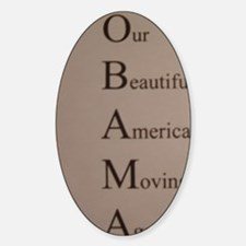 Barack Obama - Our Beautiful Americ Decal