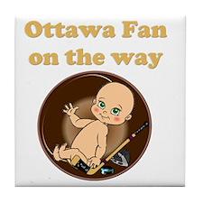 Ottawa Fan on the way Tile Coaster
