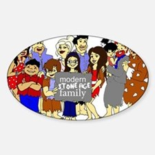 ModernStoneageFamily Sticker (Oval)