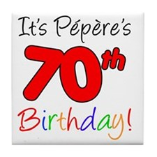 Pepere 70th Birthday Tile Coaster