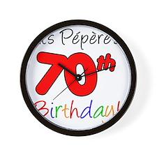 Pepere 70th Birthday Wall Clock