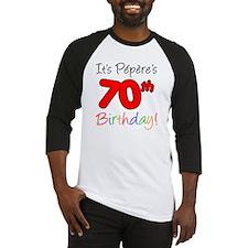 Pepere 70th Birthday Baseball Jersey