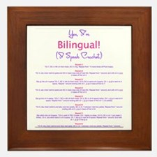Im Bilingual – I Speak Crochet Framed Tile