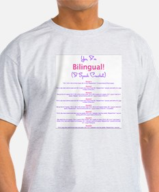 Im Bilingual – I Speak Crochet T-Shirt