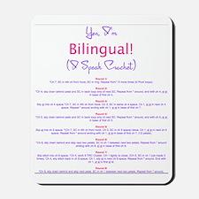 Im Bilingual – I Speak Crochet Mousepad