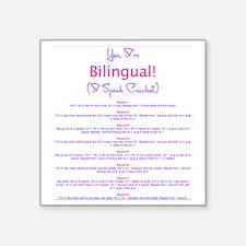 "Im Bilingual – I Speak Croc Square Sticker 3"" x 3"""