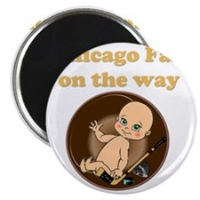 Chicago Fan on the way Magnet