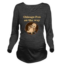 Chicago Fan on the w Long Sleeve Maternity T-Shirt