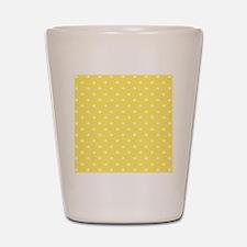 Yellow and White Dot Design. Shot Glass