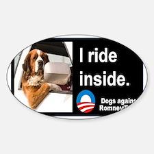 I Ride Inside! Sticker (Oval)