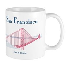 SF_10x10_GoldenGateBridge_Design3_Red_B Mug