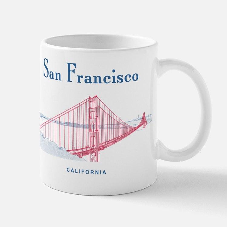 SF_10x10_GoldenGateBridge_Design3_Red_B Mug