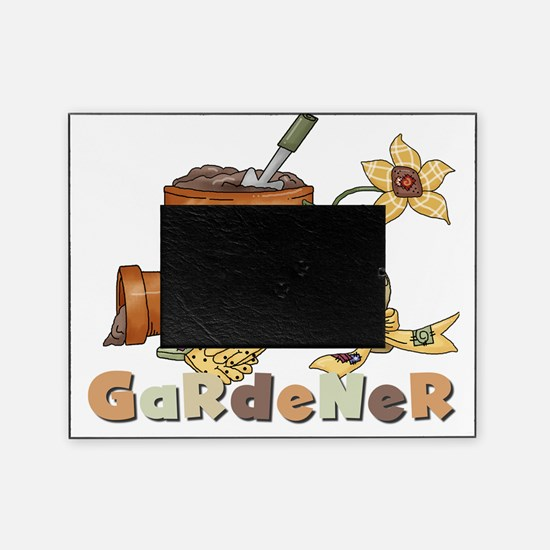 Gardener With Clay Pots Picture Frame