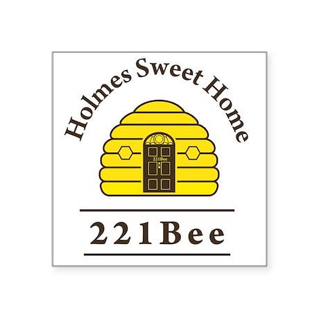 """221Bee Square Sticker 3"""" x 3"""""""