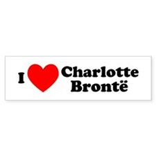 I Love Charlotte Bronte Bumper Car Sticker