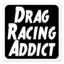 """Drag Racing Addict Square Car Magnet 3"""" x 3"""""""