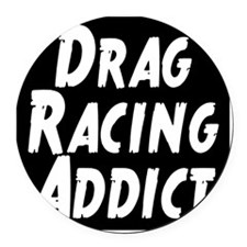 Drag Racing Addict Round Car Magnet