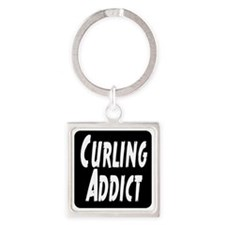 Curling addict Square Keychain