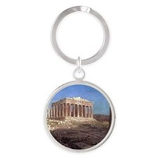 Frederic Edwin Church The Parthenon Round Keychain