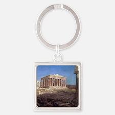 Frederic Edwin Church The Partheno Square Keychain