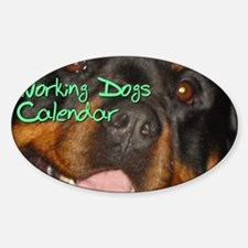 Working Dogs CALENDAR Decal