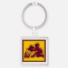 Zodiac_0186.gif Square Keychain